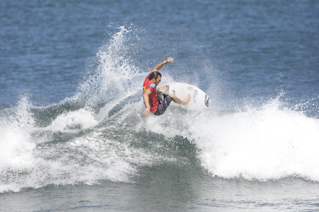 Cory Lopez thought he left little waves like this behind in California. Early round, um, action, at Haleiwa.