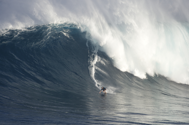 Laird again in his front yard at Jaws.  Photo: Flindt