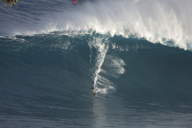 Mike Parsons at Jaws.