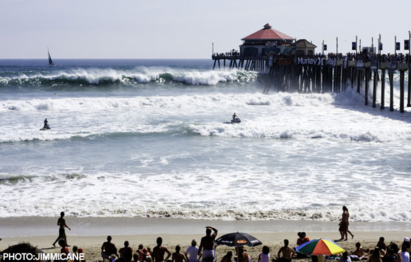 The South Side of the HB pier during the 2009 US Open.