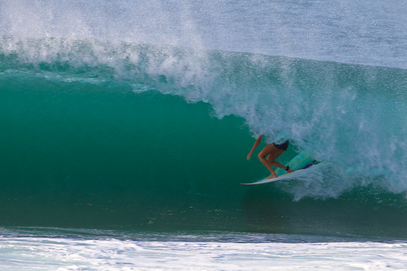 Stephanie Gilmore blew her competition out of the water with her impeccable tube-riding. Photo: Joli