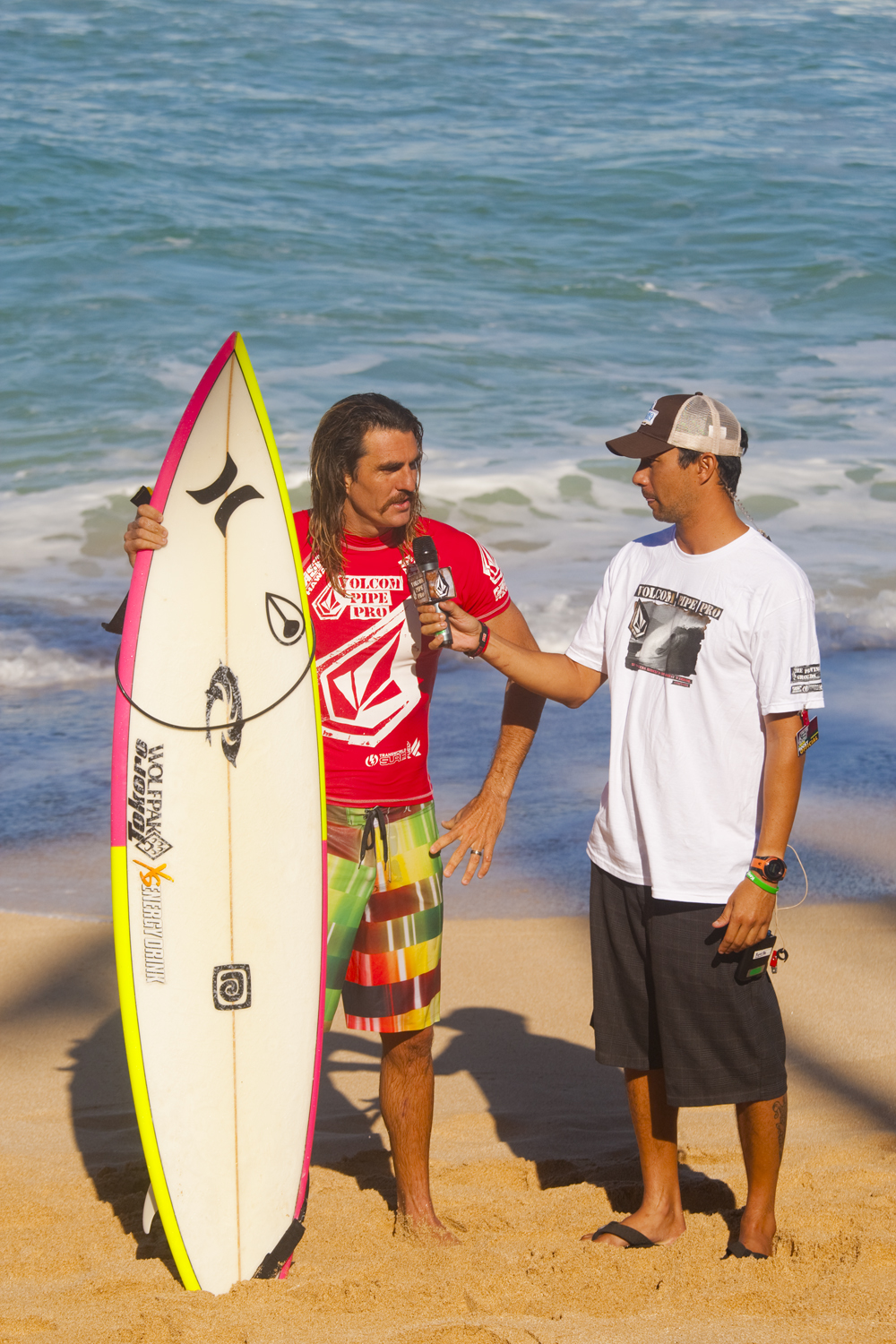 Aamion Goodwin has had a tumultuous relationship with Pipeline over the last few years, though he is looking to be a dominant force in this competition. Photo: Noyle/SPL