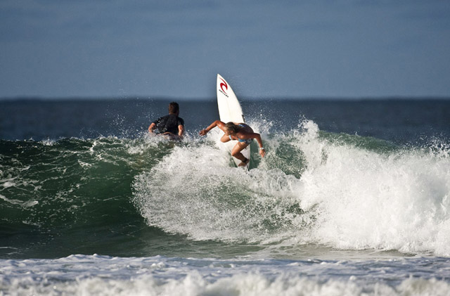 With hopes of remaining injury-free, goofyfooter Jessi Miley-Dyer will join the rest of the 2011 Womens' World Tour surfers at Snapper in February. Photo: Joli