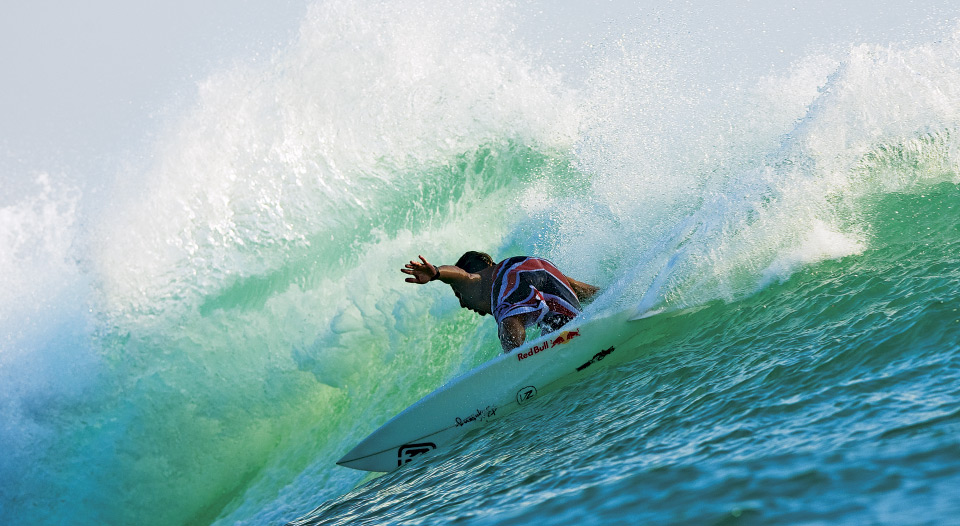 Andy's inherent ability on a surfboard - a raw combination of power, style, and aggression - put in in a league of his own throughout the early 2000s. Photo: Ellis