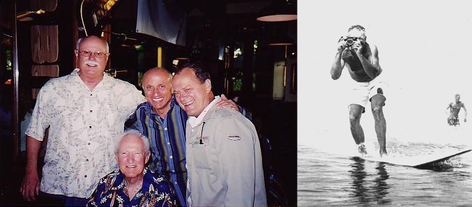 SURFING Magazine cohorts: Dick Graham, Leroy Grannis, PT, and Bob Mignogna