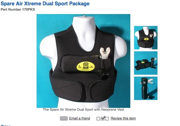 The suggested retail price for the vest is $249, though you can find it cheaper on e-bay.