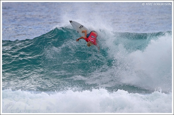 Adrian Buchan (AUS), 26, dispatched of wildcard Mitch Crews (AUS), 20, today in Round 2 of the Quiksilver Pro Gold Coast. Photo: Courtesy of ASP