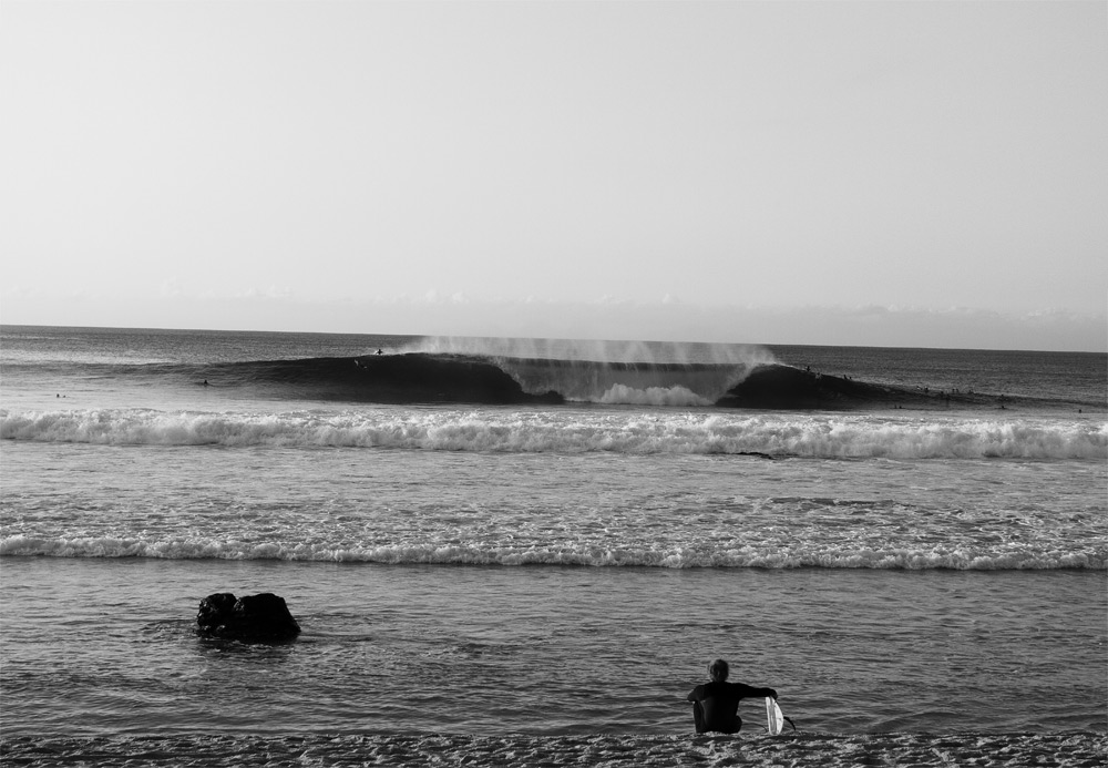 Patience and respect are more impressive than good surfing when working your way into a lineup. Photo: Glaser