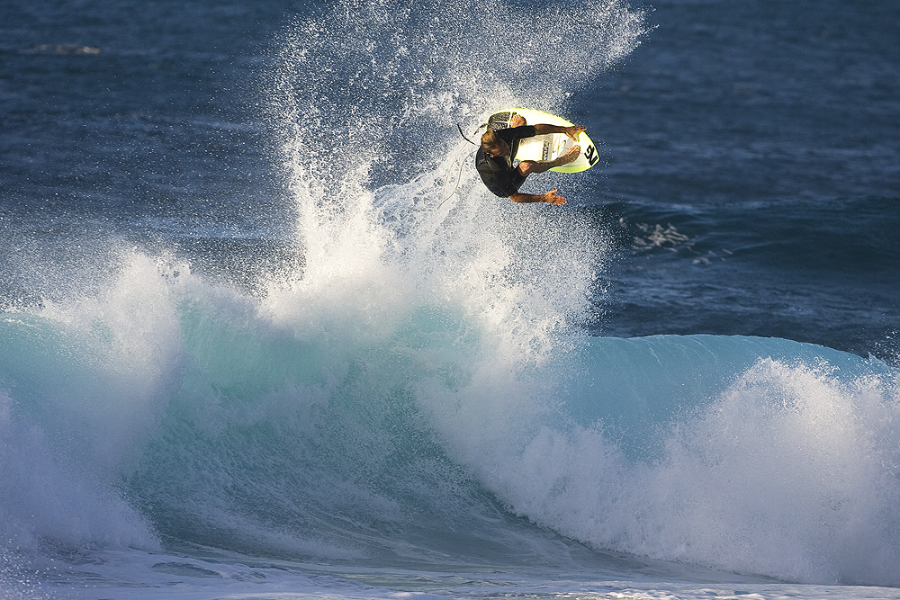 Nathan Fletcher claims that you can never be too old to stick a massive punt. Photo: Hank