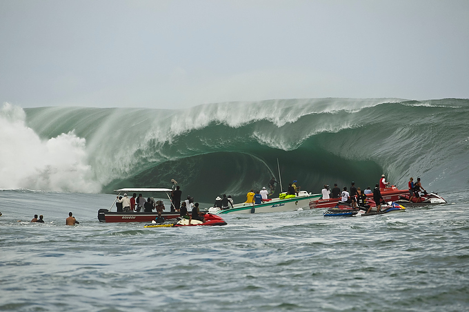 As wide as she was tall, Teahupoo produced a next-level playing field today.
