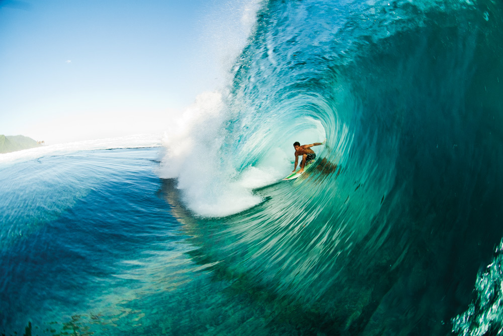 Flores' performances at places like Teahupoo have put him at the center of the conversation when the discussion turns to young World Tour surfers who are willing to charge in heavy conditions. Photo: Jarvinen