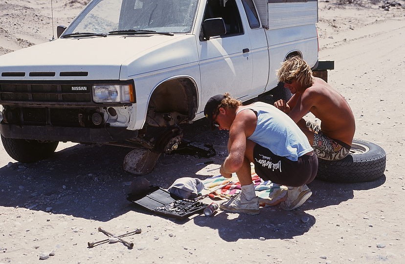 Possibly the least desirable three-word phrase in Baja: Broken ball joint. Photo: Gilley