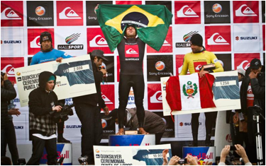 Last year's winner's podium (from left to right) Navarro, Monteiro, Villaran