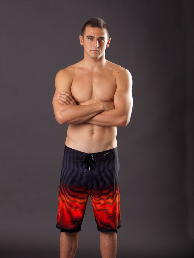 Nakoa Decoite in the HD2 Velocity Boardshort