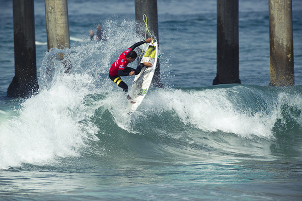 Miguel Pupo (BRA), 20, amassed the day's highest heat total of 18.07 out of 20 in Round 1 of Nike US Open of Surfing action.  Credit: IMG