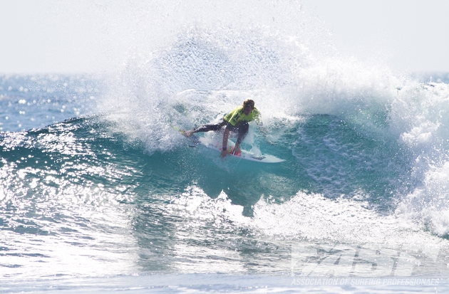 John John Florence (HAW), 19, posted the day's highest heat total while advancing to the Quarterfinals of Hurley Pro at Trestles competition today. Image Credit: © ASP/ SCHOLTZ
