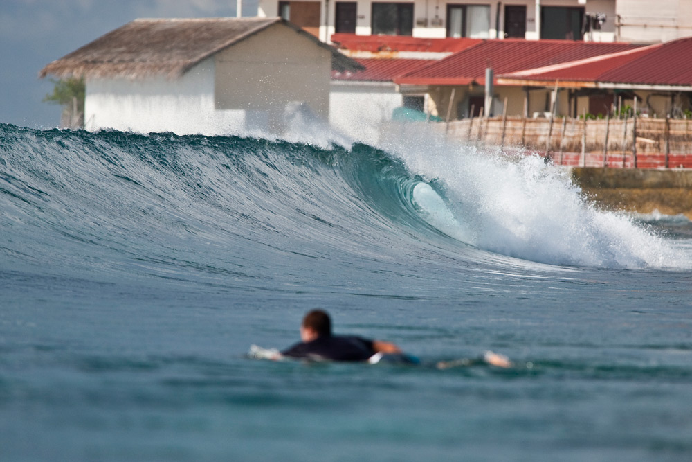 While the Maldives are known for quality surf, the number of accessible spots is small, and potentially getting smaller. Photo: Joli