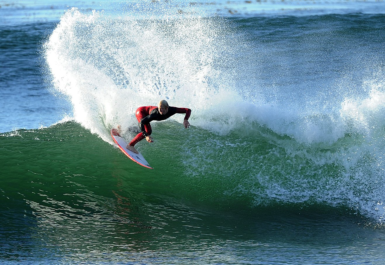 The 2008 Champ, Nat Young, will be a tough draw for any inexperienced Lane surfers should he make it through the trials. Photo: Kookson