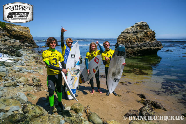 2014 Northwest Champions: Team Channel Islands (L-R) Pat Curren, Kilian Garland, Brandon Smith, Pat Ecker
