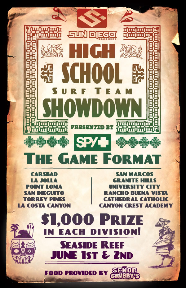 Spy Presents 2nd Annual Sun Diego High School Surf Team Showdown
