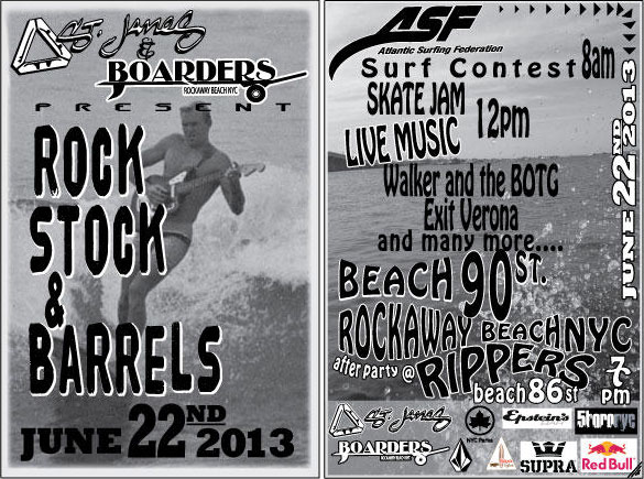 The 7th Annual Rockstock and Barrels Surf Contest and Music Festival
