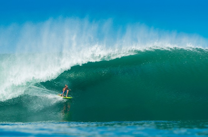 Brian Connely, bombs away in Mexico.