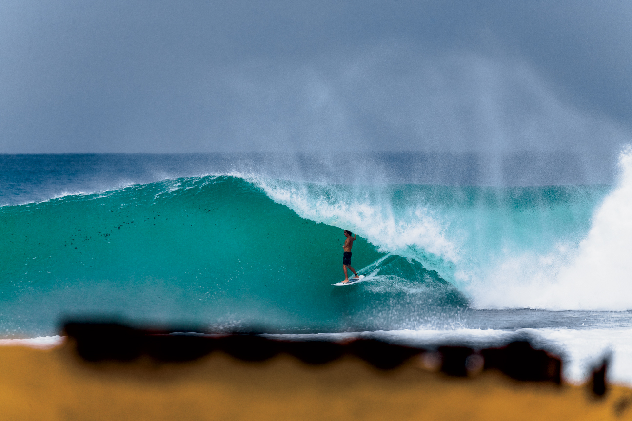 Puerto Rican up-and-comer Mauro Diaz, making good use of the island's natural resources. Photo: Chachi