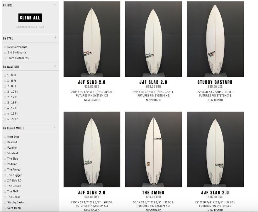 New Pyzel Surfboards website launched